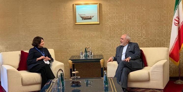ملاقات معاون گوترش در امور سیاسی و صلح با ظریف در دوحه